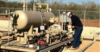 Technician Installing Instrumentation and Electrical for SCADA Services